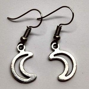5/$20 Moon earrings open crescent lunar Solar